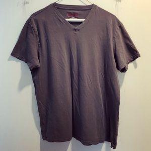 Gray casual Men's Slim Fit v-neck shirt
